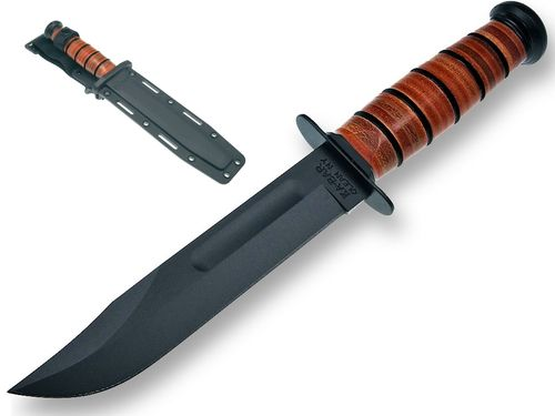 "Ka-Bar USMC 7"" with leather handle and Nylon sheath"