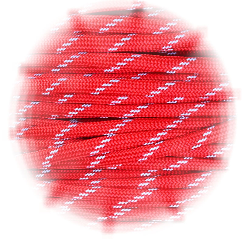 P.cord Paracord reflektierend Imperial Red