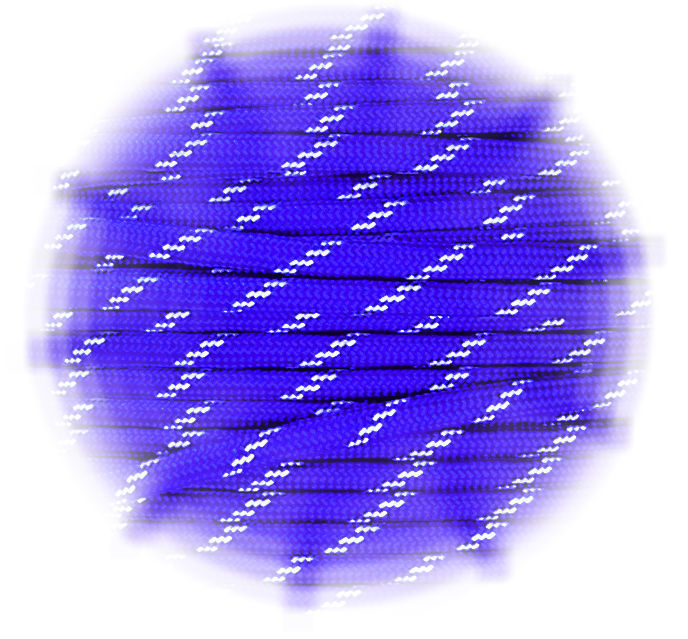 P.cord Paracord reflektierend Electric Blue