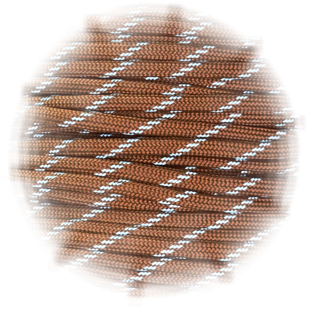 P.cord Paracord reflektierend Chocolate Brown