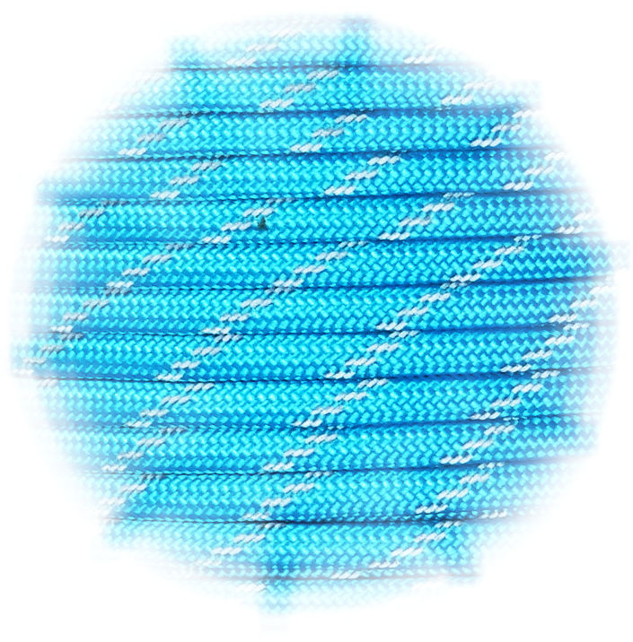 P.cord Paracord reflektierend Neon Turquoise
