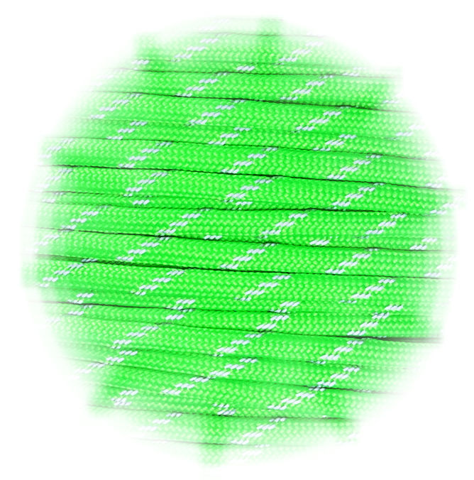 Paracord reflective Neon Green