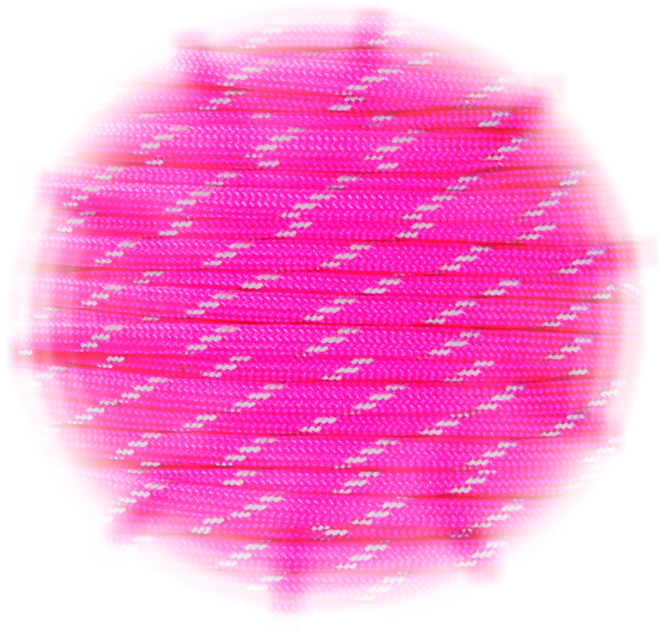 Paracord reflective Neon Pink