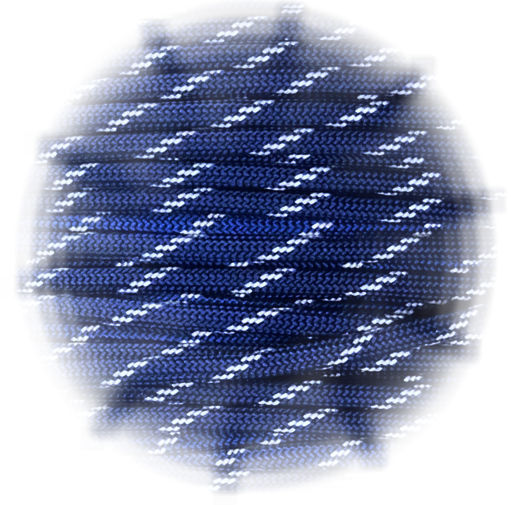 Paracord reflective Midnight Blue