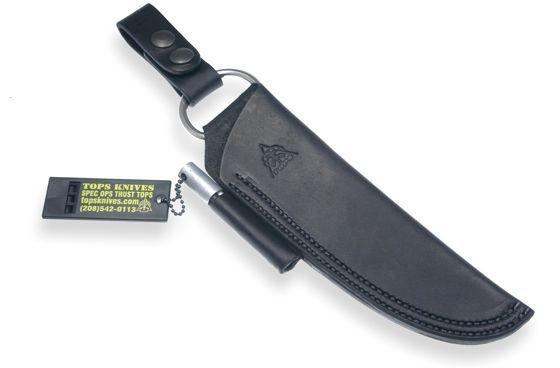 Tops Leather Bushcraft Sheath black