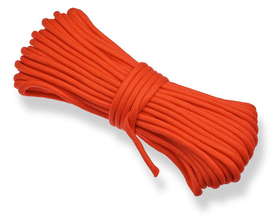 P.cord Paracord 550 Poly Orange Red