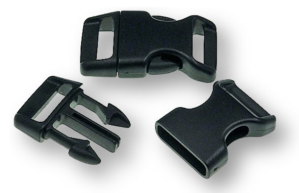 "Bracelet-Buckles medium (5/8"") Black"