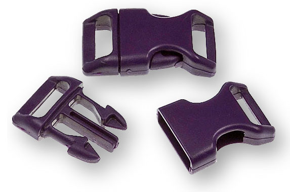 "Bracelet-Buckles medium (5/8"") Purple 10pack"
