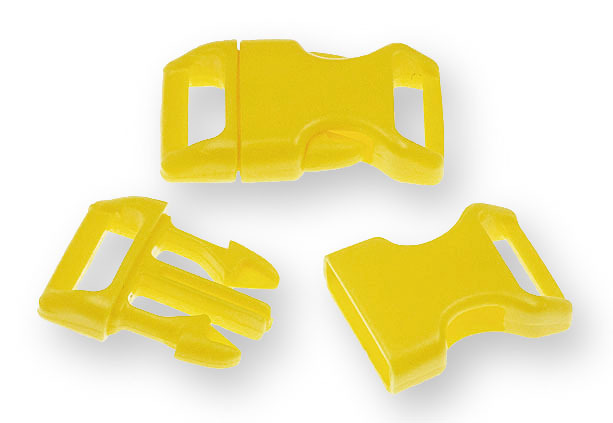 "Bracelet-Buckles medium (5/8"") Yellow 10pack"