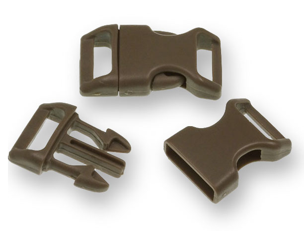 "Bracelet-Buckles medium (5/8"") Brown 10pack"