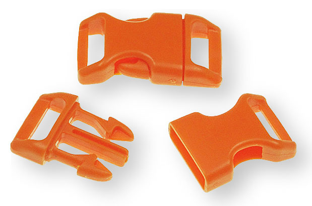 "Bracelet-Buckles medium (5/8"") Orange 10pack"