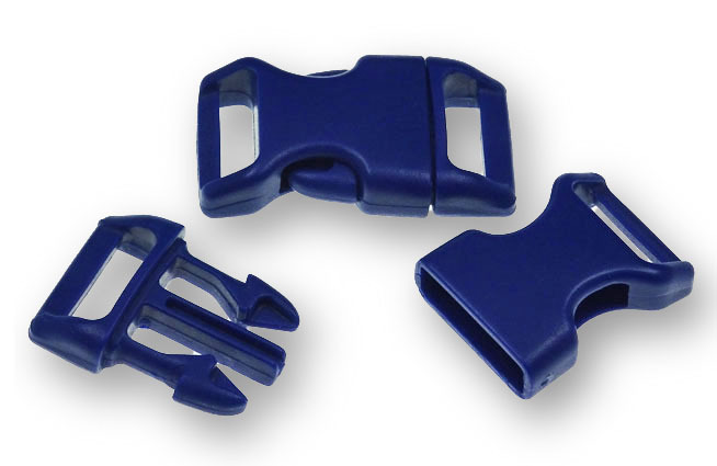 "Bracelet-Buckles medium (5/8"") Dark Blue 10pack"