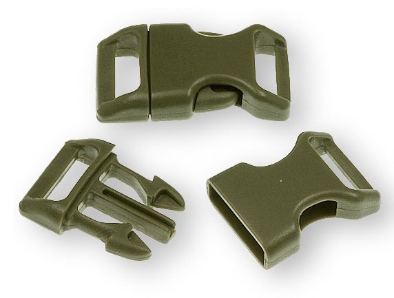 "Bracelet-Buckles medium (5/8"") Army Green 10pack"
