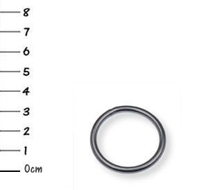 5 V4A-stainless-steel snap-O-rings 3 x 25 mm