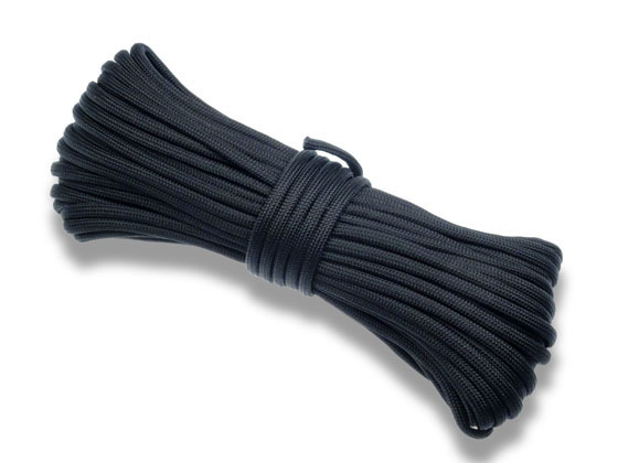 Paracord 550 Poly Black