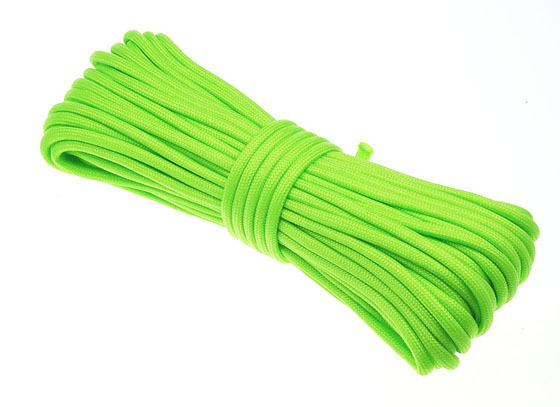 Paracord 550 Poly Fluor Green