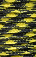 P.cord Paracord 550 Poly Black + Yellow Camo