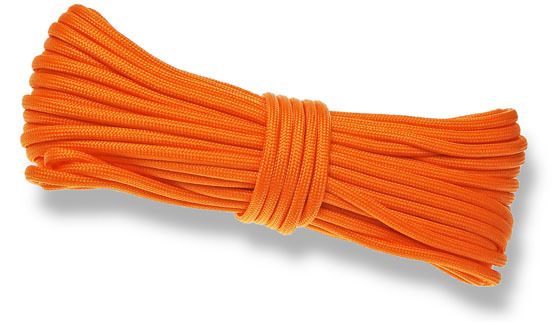 P.cord Paracord 550 Poly Orange Yellow