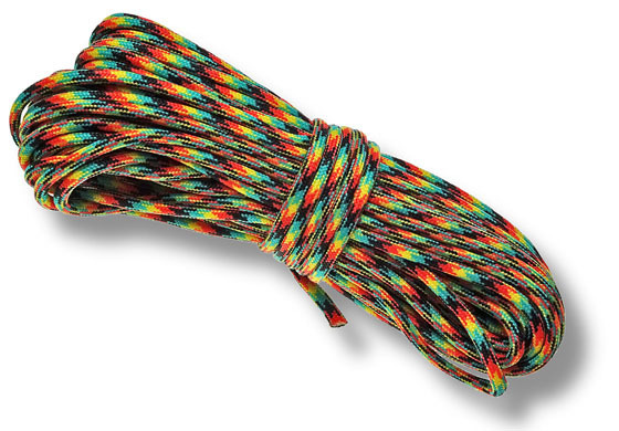 P.cord Paracord 550 Poly Jamaican
