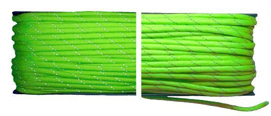 Paracord 550 Poly Fluor Green Reflective