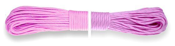 Paracord 550 Poly Rose Pink Reflective
