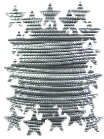 P.cord Paracord 425 Nylon, Silver Grey