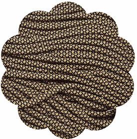 P.cord Paracord-550 Nylon Gold Diamonds