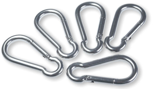 5 V4A-stainless-steel snap-hooks 8 x 80 mm