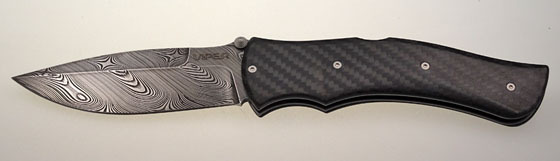 Viper Folder Start Damascus Carbon