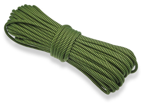 P.cord Paracord 550 Polyester Black/Green Wave