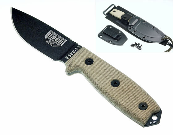 ESEE-3 Military w. black sheath