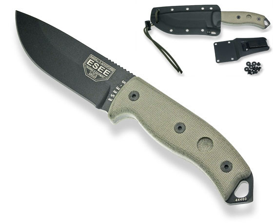 ESEE-5 black with sheath