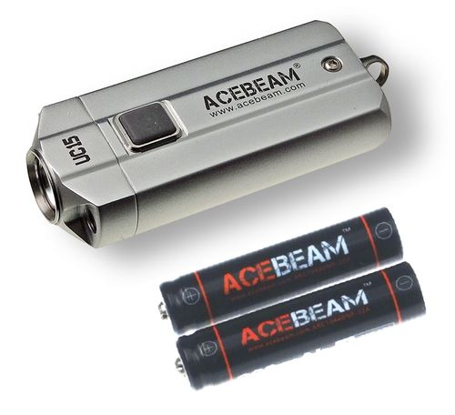 Acebeam UC15 Silver including batteries