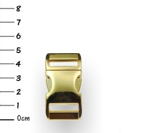 3/4 inch Metal Buckle Gold