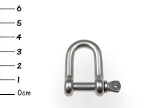 AISI316 D-Shackle Stainless 6x40mm