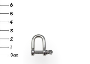 AISI316 D-Shackle Stainless 4x25mm