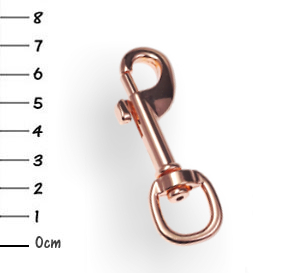 Snap-hook, zinc rosegold 13 x 70mm