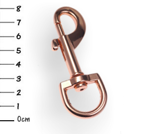 Snap-hook, zinc rosegold 19 x 81mm