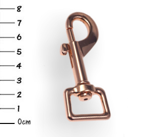 Snap-hook, zinc rosegold 20 x 76mm