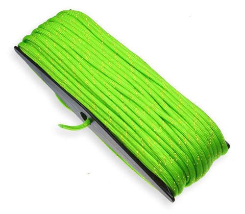 P.cord Paracord 550 Poly Fluor Green Goldglitter