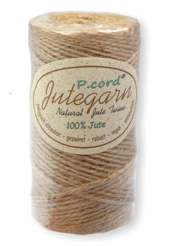 P.cord Jute Twine 1.5mm Natural Finish