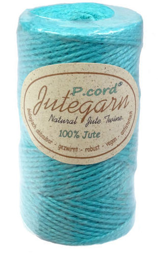 P.cord Jute Twine 1.5mm Turquoise