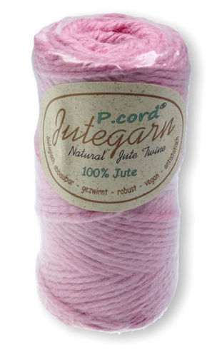 P.cord Jute Twine 4mm Rose Pink