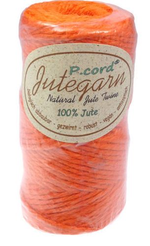 P.cord Jutegarn 4mm Orange
