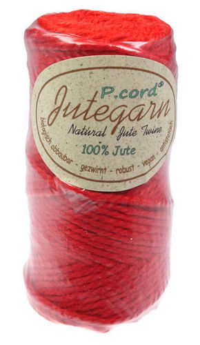 P.cord Jute Twine 4mm Red