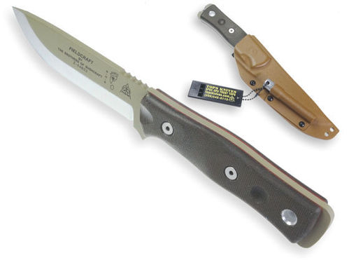 TOPS B.O.B. Fieldcraft Knife Coyote Tan