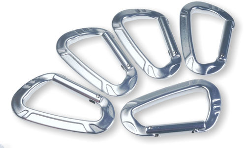 5 Aluminium heavy duty snap-hooks 10 x 80 mm