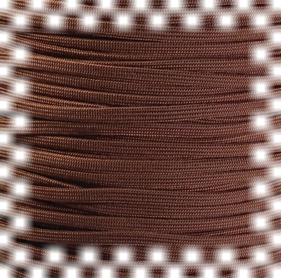 P.cord Paracord 650 Coreless Chocolate Brown
