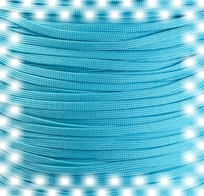 P.cord Paracord 650 Coreless Neon Turquoise