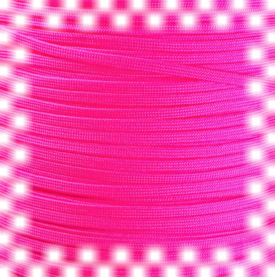 P.cord Paracord 650 Coreless Neon Pink